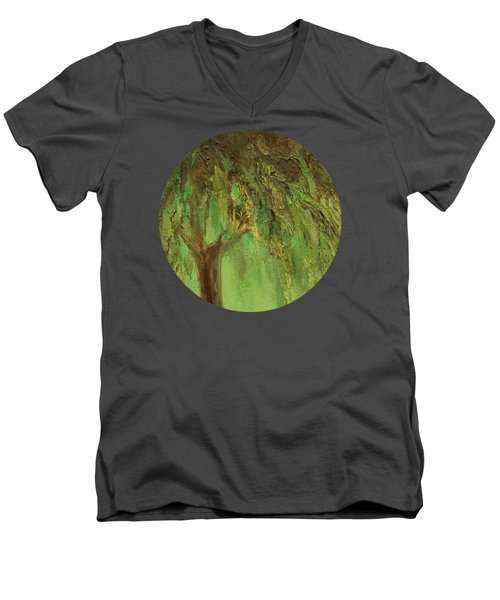Weeping Willow Men's V-Neck T-Shirt by Mary Wolf