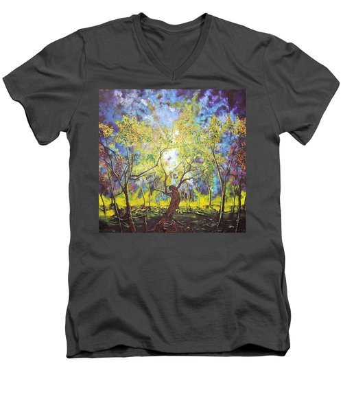 Wekiva Lady Men's V-Neck T-Shirt
