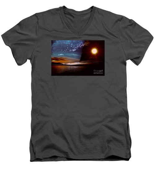 Welcome Beach 2015 2 Men's V-Neck T-Shirt by Elaine Hunter