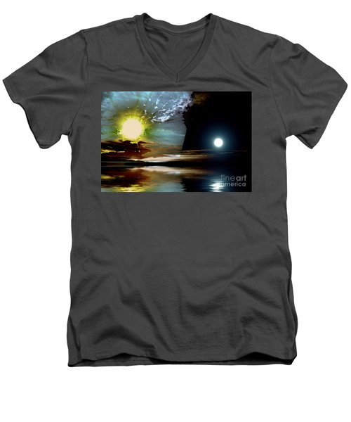 Welcome Beach Day And Night Men's V-Neck T-Shirt