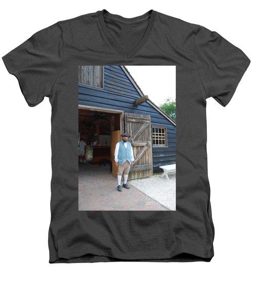 Welcome Men's V-Neck T-Shirt by Eric Liller