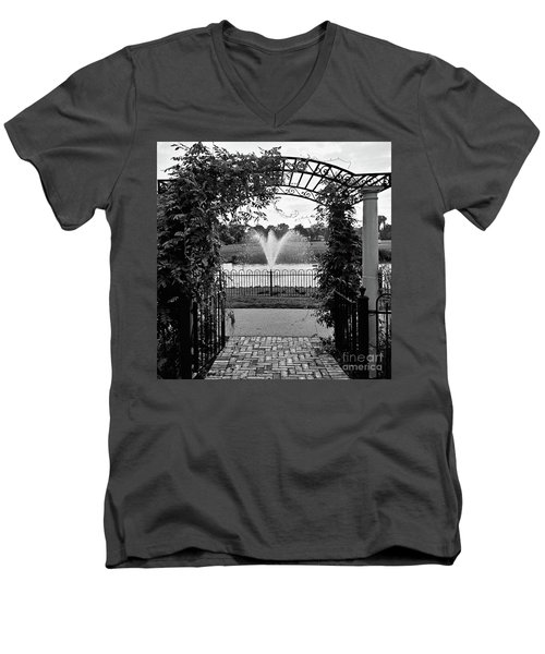 Men's V-Neck T-Shirt featuring the photograph Welcome by Robert Knight