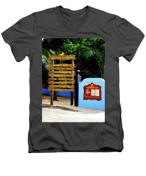 Welcome To Labadee Men's V-Neck T-Shirt