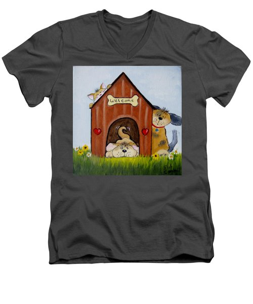 Welcome To The Doghouse Men's V-Neck T-Shirt