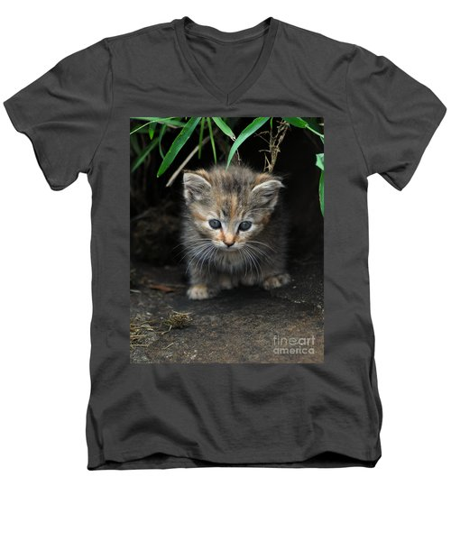Welcome To The Jungle Men's V-Neck T-Shirt by Eric Liller