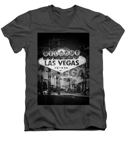 Welcome To Vegas Xiv Men's V-Neck T-Shirt