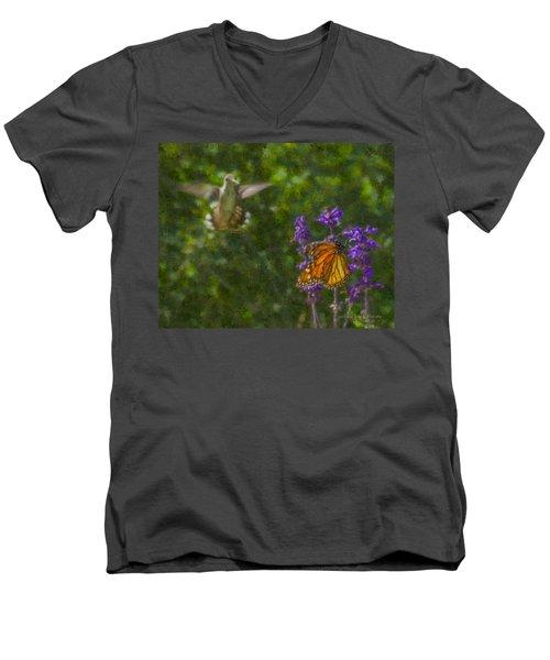 Welcome Vistors Men's V-Neck T-Shirt