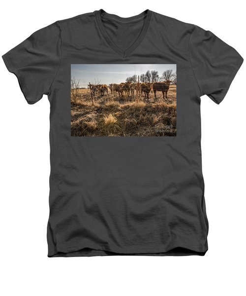 Men's V-Neck T-Shirt featuring the photograph Welcoming Committee by Sue Smith