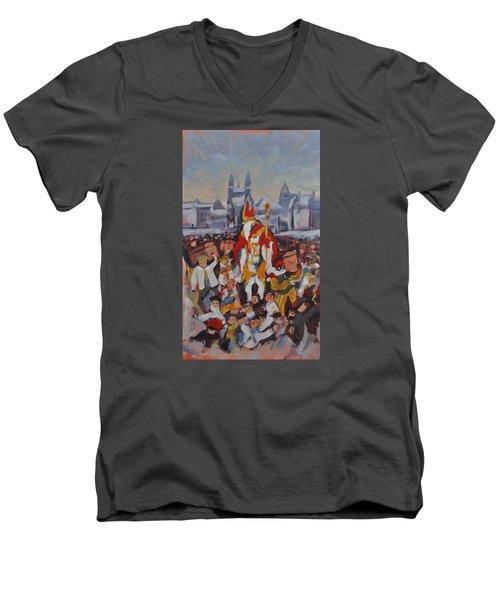 Welcoming Saint Nicolas In Maastricht Men's V-Neck T-Shirt by Nop Briex