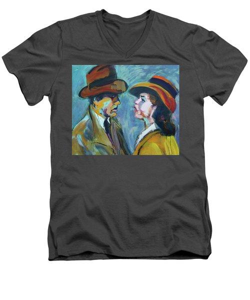 We'll Always Have Paris Men's V-Neck T-Shirt by Les Leffingwell