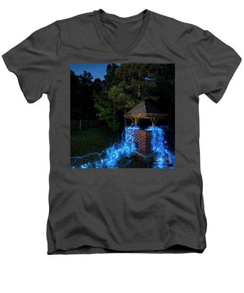 Well Color Men's V-Neck T-Shirt