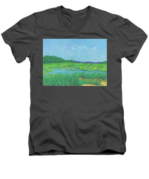 Wellfleet Wetlands Men's V-Neck T-Shirt