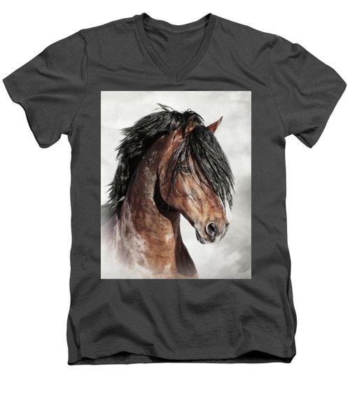 Welsh Cob Portrait Men's V-Neck T-Shirt