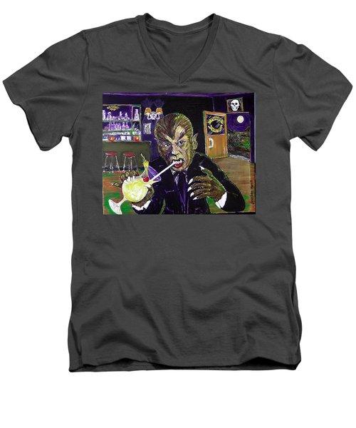Werewolf Drinking A Pina Colada At Trader Vic's Men's V-Neck T-Shirt