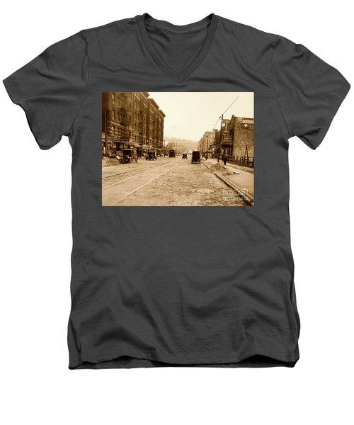 West 207th Street, 1928 Men's V-Neck T-Shirt