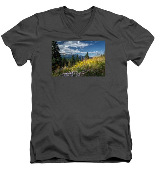 West Elk Mountain Range Men's V-Neck T-Shirt