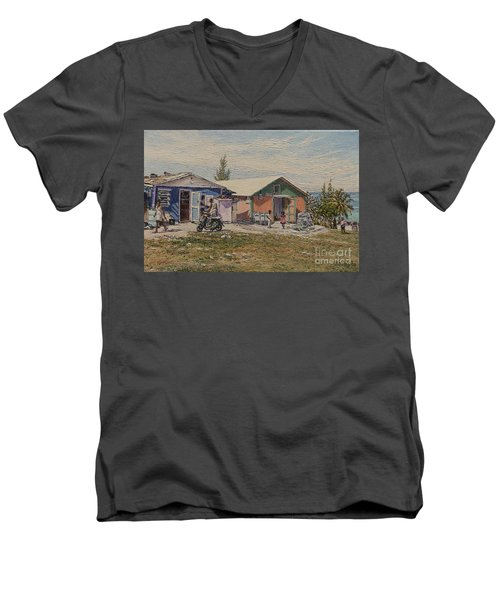 West End - Russell Island Men's V-Neck T-Shirt