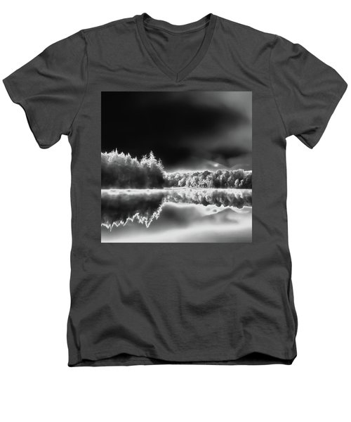 Men's V-Neck T-Shirt featuring the photograph West Lake Backlit by David Patterson