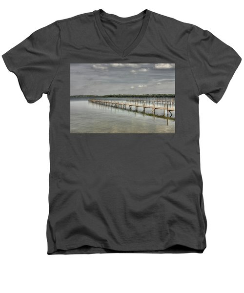 West Lake Docks Men's V-Neck T-Shirt