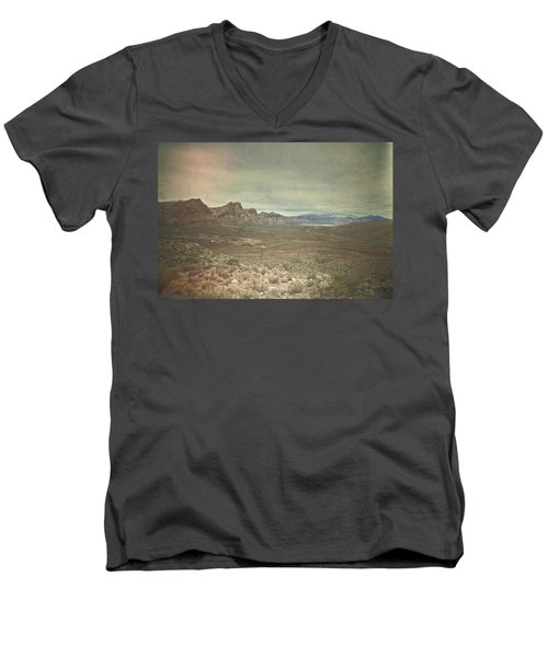 Men's V-Neck T-Shirt featuring the photograph West by Mark Ross