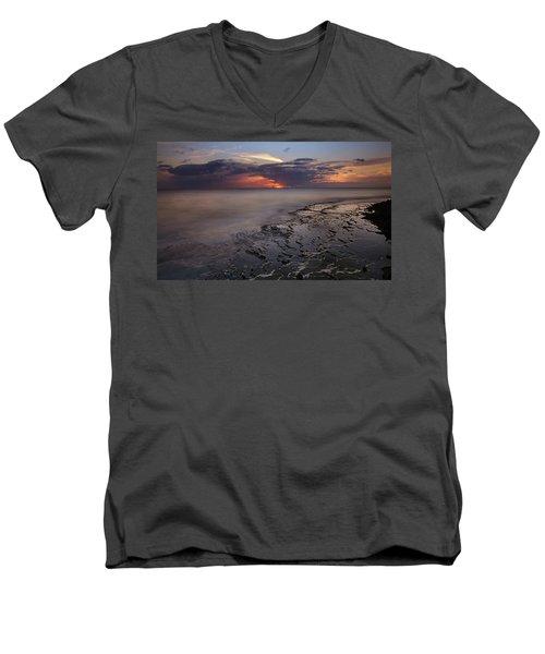 West Oahu Sunset Men's V-Neck T-Shirt
