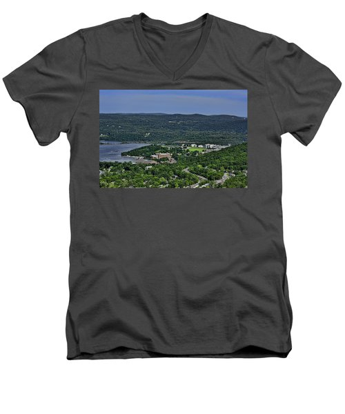 West Point From Storm King Overlook Men's V-Neck T-Shirt