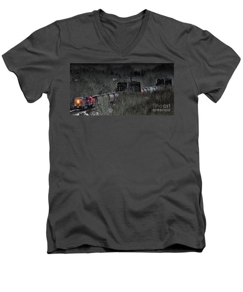 Westbound Grain II Men's V-Neck T-Shirt by Brad Allen Fine Art
