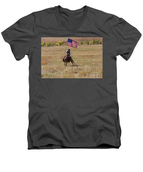 Western America Men's V-Neck T-Shirt