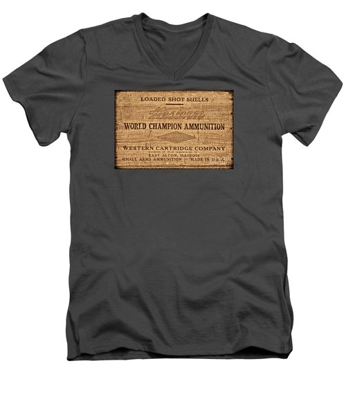 Western Ammunition Box Men's V-Neck T-Shirt by American West Legend By Olivier Le Queinec