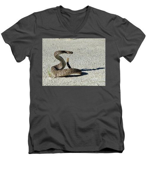 Western Diamondback Rattlesnake Men's V-Neck T-Shirt