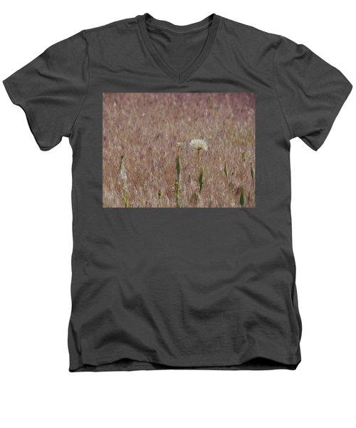 Western Salsify Seed Head Men's V-Neck T-Shirt