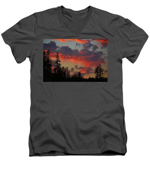 Western Sky Fire Men's V-Neck T-Shirt