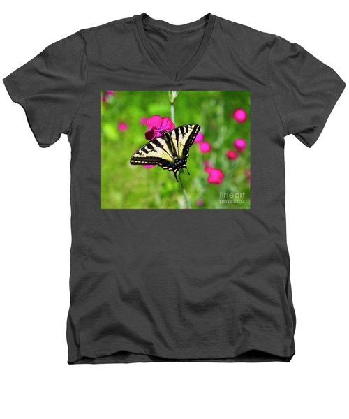 Western Tiger Swallowtail Butterfly Men's V-Neck T-Shirt