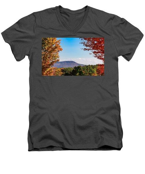 Westhampton View Of Mount Tom Men's V-Neck T-Shirt