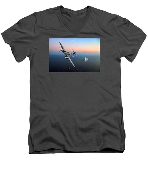 Westland Whirlwind Attacking E-boats Men's V-Neck T-Shirt by Gary Eason
