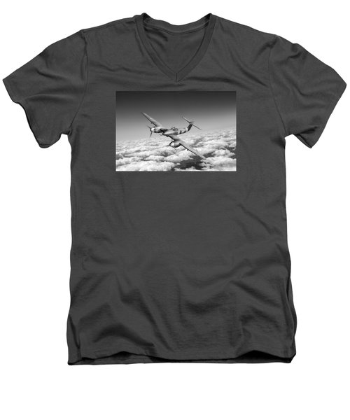 Westland Whirlwind Portrait Black And White Version Men's V-Neck T-Shirt by Gary Eason