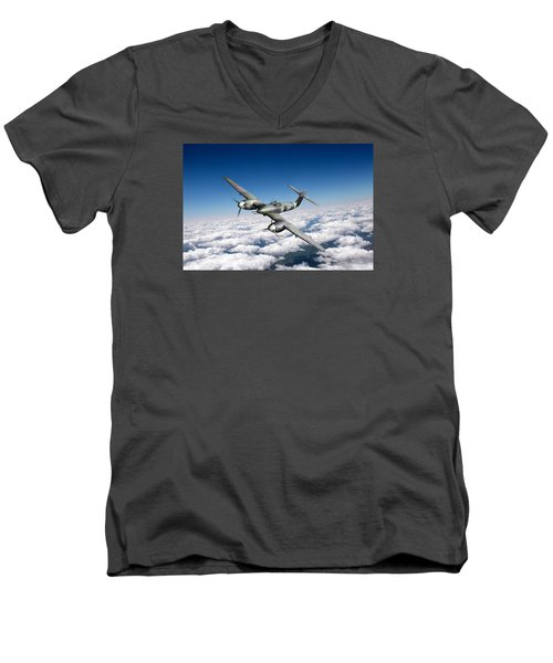 Westland Whirlwind Portrait Men's V-Neck T-Shirt by Gary Eason