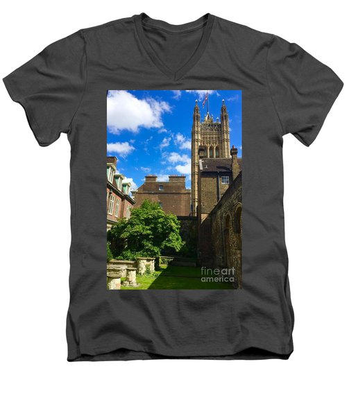 Westminster Abby Garden Men's V-Neck T-Shirt