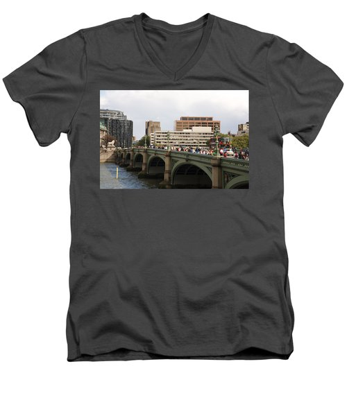 Westminster Bridge.  Men's V-Neck T-Shirt