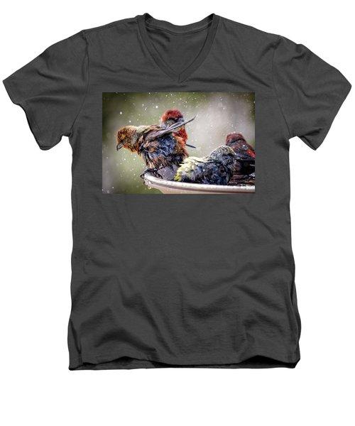 Wet Close-up Men's V-Neck T-Shirt