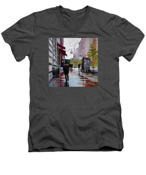 Wet Morning, Early Spring Men's V-Neck T-Shirt