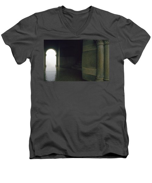 Wet Weather Men's V-Neck T-Shirt by Jan W Faul