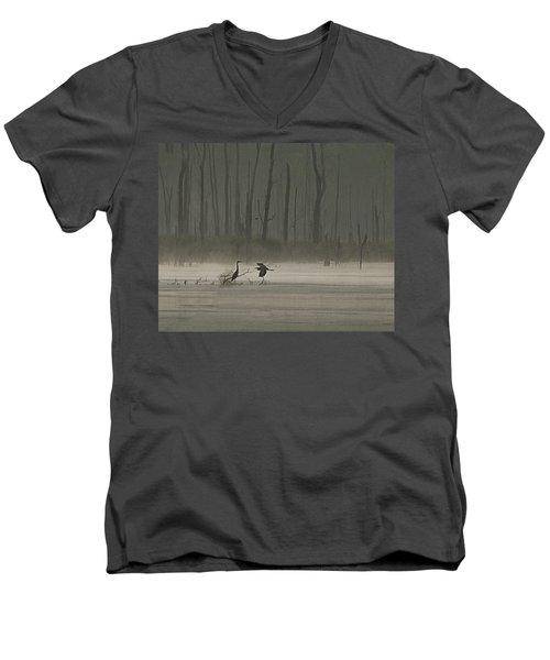 Wetlands Morning Men's V-Neck T-Shirt
