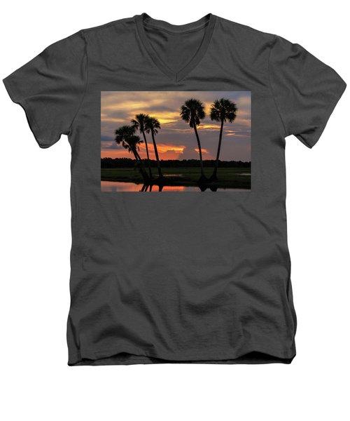 Wetlands Sunset Men's V-Neck T-Shirt