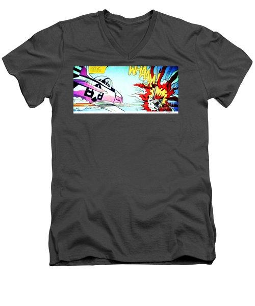 Whaam - Roy Lichtenstein  Men's V-Neck T-Shirt