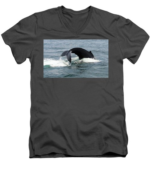 Whale Of A Tail Men's V-Neck T-Shirt