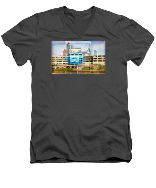 Whales In The City Men's V-Neck T-Shirt