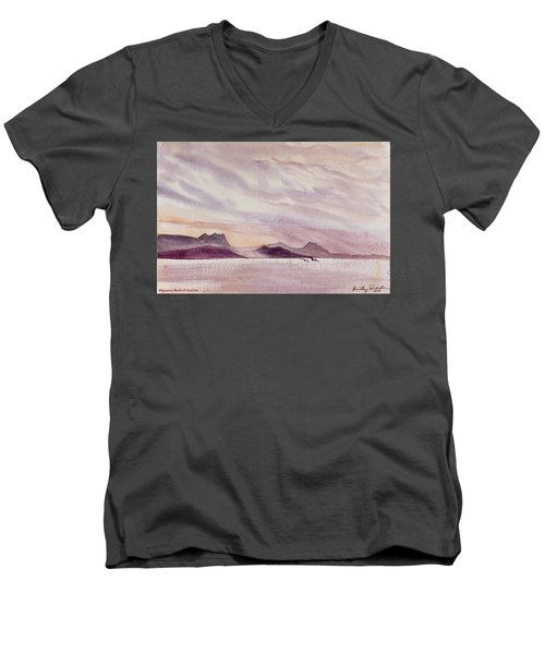 Whangarei Heads At Sunrise, New Zealand Men's V-Neck T-Shirt