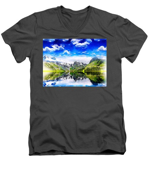 What A Beautiful Day Men's V-Neck T-Shirt by Gabriella Weninger - David