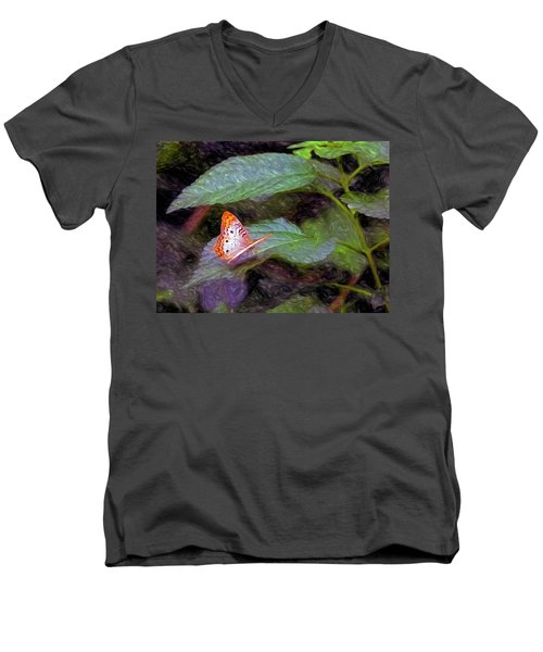 Men's V-Neck T-Shirt featuring the digital art What A Great Place To Live by James Steele